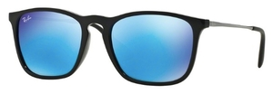 Ray Ban RB4187 Black with Light Green Mirror Blue Lenses
