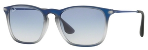 Ray Ban RB4187 Blue Shot on Black with Clear Gradient Light Blue Lenses
