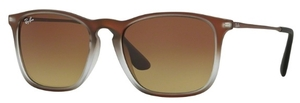 Ray Ban RB4187 Brown Shot on Black with Brown Gradient Lenses