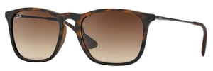 Ray Ban RB4187 Rubber Havana with Brown Gradient Lenses