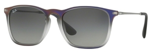 Ray Ban RB4187 Violet Shot on Black with Grey Gradient Dark Grey Lenses