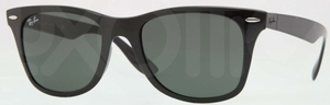 Ray Ban RB4195 WAYFARER LITEFORCE Black with Green Lenses