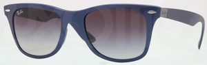 Ray Ban RB4195 WAYFARER LITEFORCE Blue w/ Grey Gradient Lenses