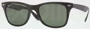 Ray Ban RB4195 WAYFARER LITEFORCE Matte Black w/ POLAR Green Lenses