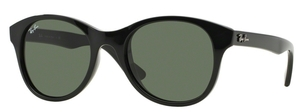Ray Ban RB4203 Black with Crystal Green Lenses 601