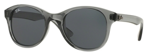 Ray Ban RB4203 Transparent Shiny Grey with Dark Grey Lenses