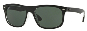 Ray Ban RB4226 Top Matte Black On Transparent with Dark Green Lenses