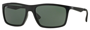 Ray Ban RB4228 Black with Green Lenses