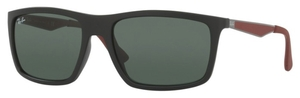 Ray Ban RB4228 Matte Black with Dark Green Lenses