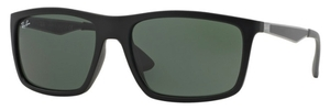 Ray Ban RB4228 Matte Black with Green Lenses