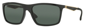 Ray Ban RB4228 Shiny Black with Dark Green Lenses
