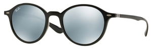 Ray Ban RB4237 Black with Green Mirror Silver Lenses