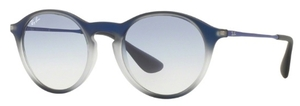 Ray Ban RB4243 Blue Shot on Black with Clear Gradient Light Blue Lenses