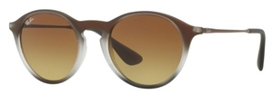 Ray Ban RB4243 Brown Shot on Black with Light Brown Gradient Brown Lenses
