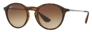 Ray Ban RB4243 Rubber Havana with Brown Gradient Dark Brown Lenses