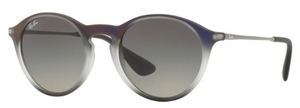 Ray Ban RB4243 Violet Shot on Black with Light Grey Gradient Grey Lenses