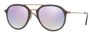 Ray Ban RB4253 Shiny Grey with Lilac Flash Gradient Lenses