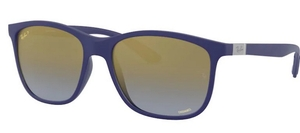 Ray Ban RB4330CH Chromance Sand Blue/ Blue Gold Pol Mirror