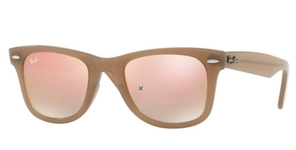 Ray Ban RB4340 Wayfarer Beige with grey/brown grad pink mirror