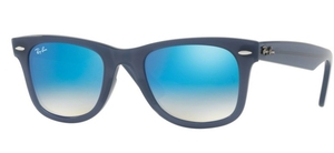 Ray Ban RB4340 Wayfarer Blue with brown grad. blue mirror