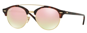 Ray Ban RB4346 CLUBROUND DOUBLE BRIDGE Sunglasses