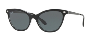 Ray Ban RB4360 Top Black on Transparent with Dark Green Lenses