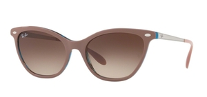 Ray Ban RB4360 Top Light Brown on Havana Blue with Brown Gradient Dark Brown Lenses