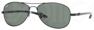 Ray Ban RB8301 Black with Crystal Green Lenses