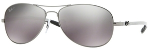 Ray Ban RB8301 Gunmetal with Polarized Crystal Grey/Silver Mirror Lenses