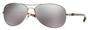 Ray Ban RB8301 Matte Silver with Polarized Crystal Grey/Silver Mirror Lenses
