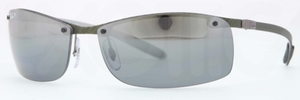 Ray Ban RB8305 Light Carbon Green Polar grey mirror silver grad