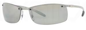 Ray Ban RB8305 Light Carbon Grey Polar Grey Mirror