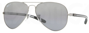 Ray Ban RB8307 Gunmetal with Polarized Crystal Grey/Silver Mirror Lenses