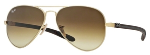 Ray Ban RB8307 Matte Gold with Brown Gradient Dark Brown Lenses