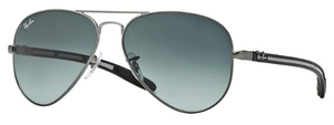 Ray Ban RB8307 Matte Gunmetal with Grey Gradient Dark Grey Lenses
