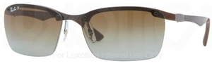 Ray Ban RB8312 Dark Carbon-Brown Rubber wigh Polarized Gradient Brown Lenses