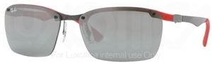 Ray Ban RB8312 Dark Carbon-Red Rubber with Silver Mirror Lenses