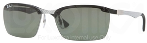 Ray Ban RB8312 Light Carbon-Black Rubber with Polarized Green Lenses