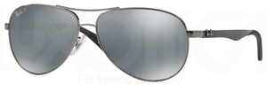 Ray Ban RB8313 Shiny Gunmetal w/ POLAR Blue Mirror Silver Lenses  004/K6