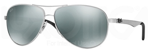 Ray Ban RB8313 Silver w/ Crystal Grey Mirror Lenses 003/40