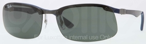 Ray Ban RB8314 Dark Carbon-Rubber Blue with Green Lenses