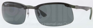 Ray Ban RB8314 Dark Carbon-Rubber Green with Polarized Grey Lenses
