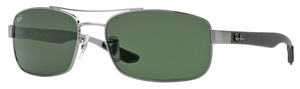Ray Ban RB8316 Gunmetal with Crystal Green Lenses