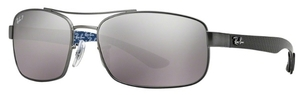 Ray Ban RB8316 Matte Gunmetal with Polarized Grey Mirror Gradient Grey Lenses