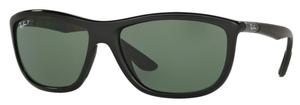 Ray Ban RB8351F Asian Fit Black with Polarized Green Lenses