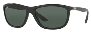 Ray Ban RB8351F Asian Fit Matte Black with Grey Green Lenses