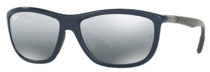 Ray Ban RB8351F Asian Fit Shiny Blue with Grey Mirror Silver Gradient Lenses