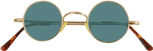 Dolomiti Eyewear RC2/S Sunglasses - Colored Tints Shiny Gold with Emerald Blue Lenses