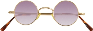 Dolomiti Eyewear RC2/S Sunglasses - Colored Tints Shiny Gold with Gradient Plum Lenses