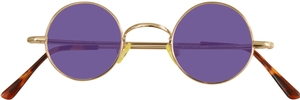 Dolomiti Eyewear RC2/S Sunglasses - Colored Tints Shiny Gold with Grape Lenses